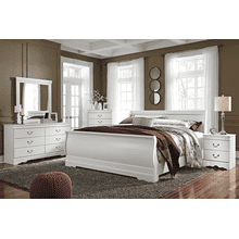 Anarasia - White - 7 Pc. - Dresser, Mirror, Chest, Nightstand & King Sleigh Bed