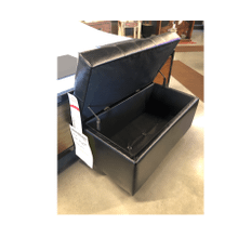 Dark Brown Storage Ottoman