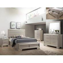 Paloma Kg Bed, Dresser, Mirror, Chest and Nightstand