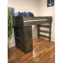 See Details - Modular Rustic Grey Twin Loftbed