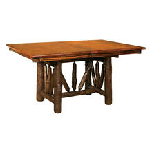 WAGON WHEEL TRESTLE TABLE