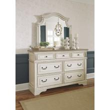 See Details - Ashley Furniture Realyn Chipped White Dresser And Mirror