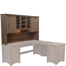 """See Details - McMillan 75"""" Hutch for L-Shaped Desk"""