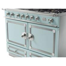 CornuFe 110 Dual Fuel Range - Suzanne Kazler Couleurs - Roquefort with Stainless Steel and Polished Chrome Trim