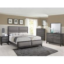Florian Kg Bed, Dresser, Mirror, Chest and Nightstand