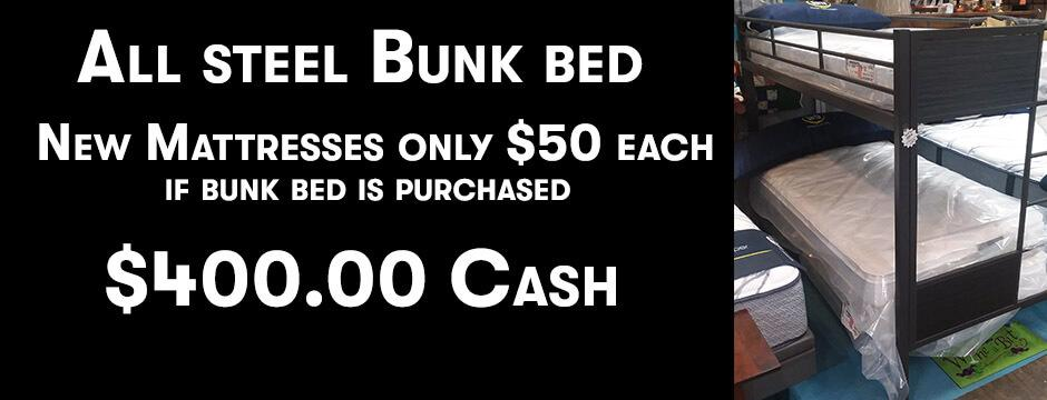 All Steel  Bunk Bed