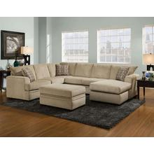 See Details - Cornell Platinum Sectional Sofa