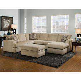 Cornell Platinum Sectional Sofa