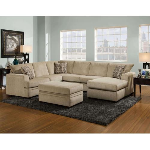 American Furniture Manufacturing - Cornell Platinum Sectional Sofa