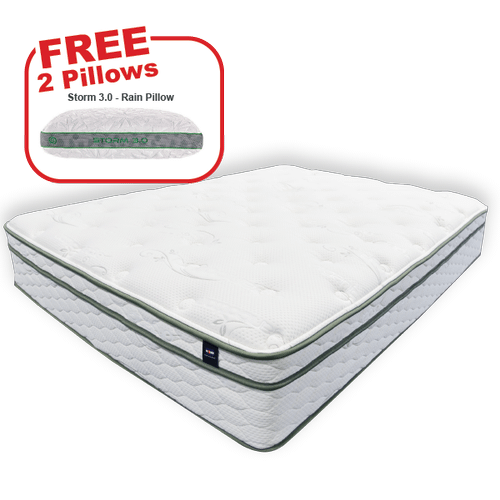 Packages - Buy the KING'S CHOICE Queen Mattress, get 2 BEDGEAR pillows FREE!
