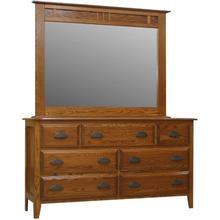Summit Dresser 7 DR and High Dresser Mirror