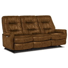 FELICIA Leather Power Reclining Sofa in Whiskey      *FLOOR MODEL - ASIS*    (S270CA4-56984,27784)