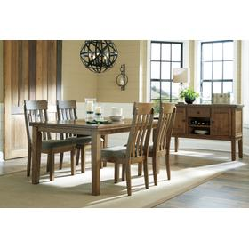 Flaybern Dining Table and 4 Chairs Brown