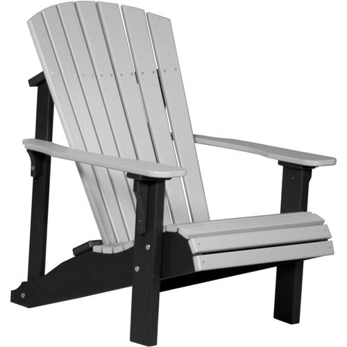 Deluxe Adirondack Chair Dove Gray and Black