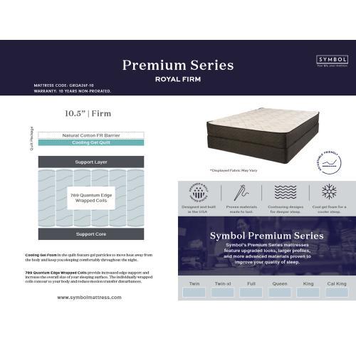 Symbol Mattress - Premium Series Collection - Royal - Firm