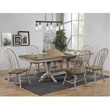 Crown Mark 1054 Jack Pedestal Dining Room with Key chairs