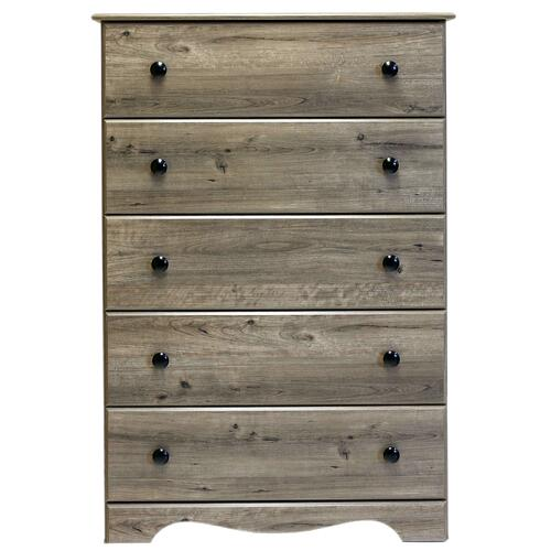 Perdue Woodworks - 5 Drawer Chest Weathered Grey Ash