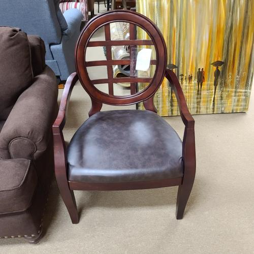 Royal Arm Chair with Blackberry Vinyl on Seat