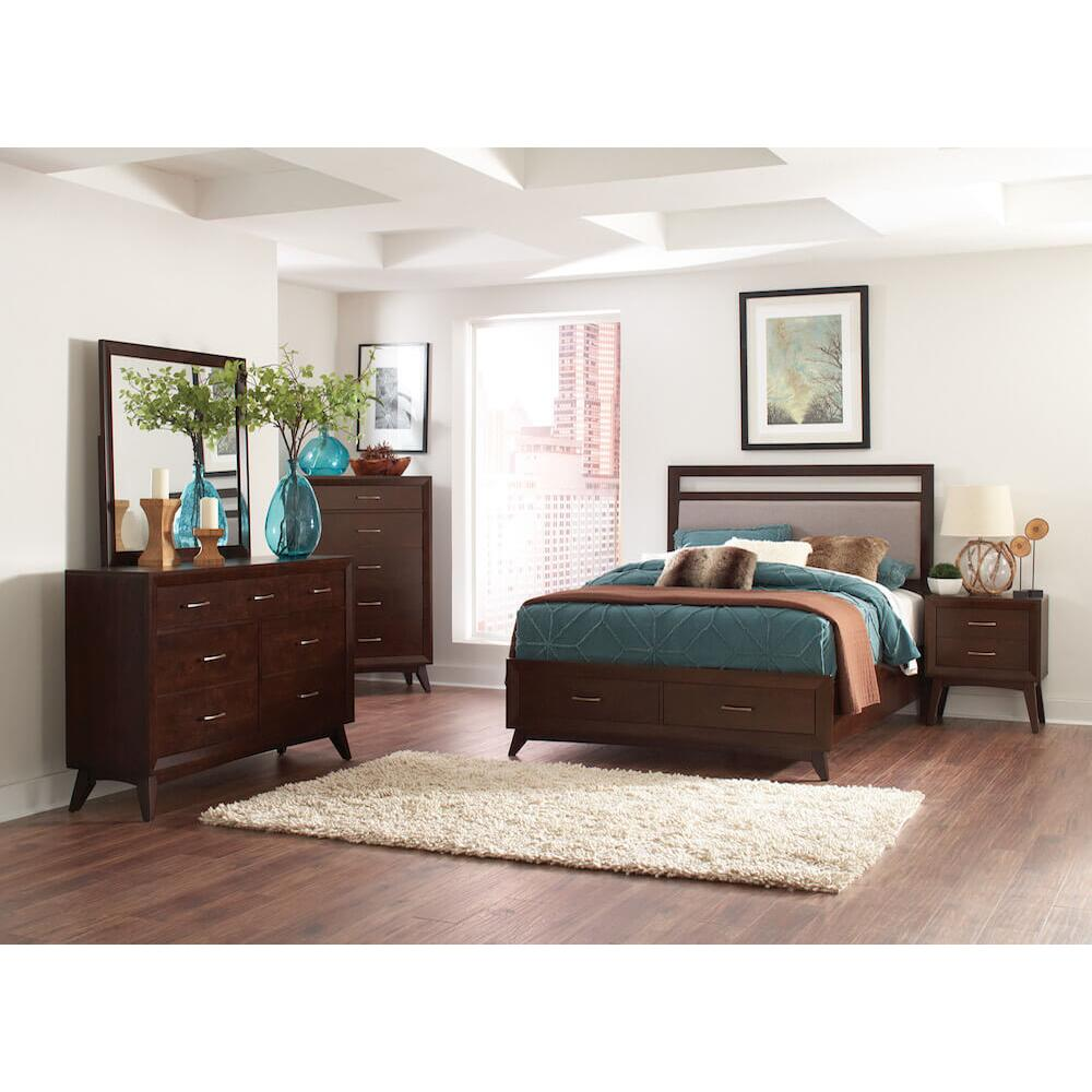 Carrington 4Pc Cal King Bed Set