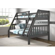 View Product - Twin/Full Mission Bunkbed - Dark Gray