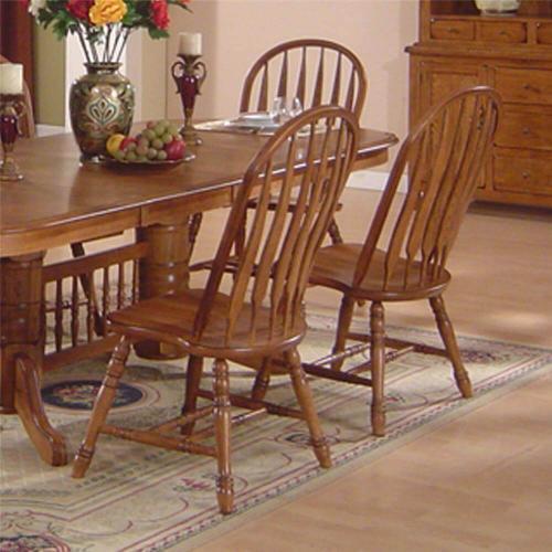 E.C.I Solid Oak Arrowback Side Chair
