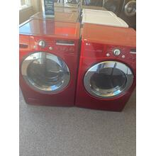 Refurbished RED LG Front Load Washer Dryer Set Please call store if you would like additional pictures. This set carries our 6 month warranty, MANUFACTURER WARRANTY AND REBATES ARE NOT VALID (Sold only as a set)