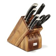 Wusthof Classic Ikon Knife Block Set of 7-Piece, Acacia
