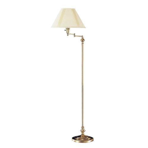 Cal Lighting BO-314-AB Swing Arm 1 Light Floor Lamp