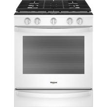Whirlpool 5.8CF White Smart Gas Slide In Convection Range with Self Clean