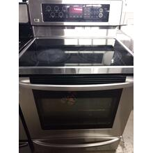 Stainless LG Glass Top Range (This May be  a Stock Photo, actual unit (s) appearance may contain cosmetic blemishes. Please call store if you would like actual pictures). This unit carries A ONE YEAR MANUFACTURER WARRANTY. REBATE NOT VALID with this item. ISI  37425 B