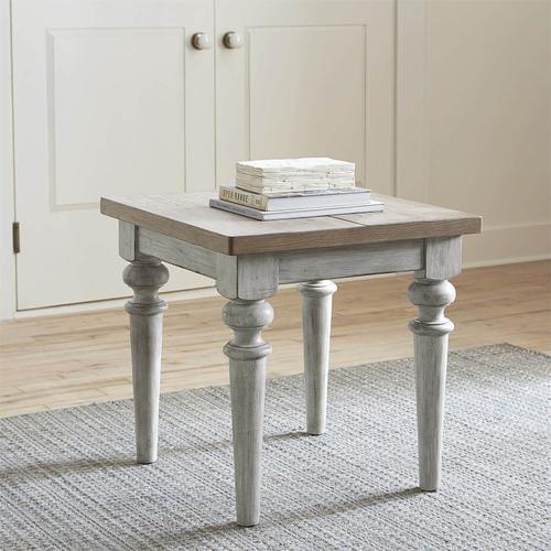 Rustic Antique End Table