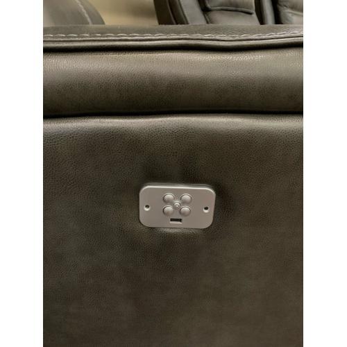 Cheers Brand - Leather Power Recliner w/ Power Headrest