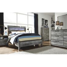 Baystorm- Gray- Dresser, Mirror, Chest, Nightstand & Full Panel Headboard