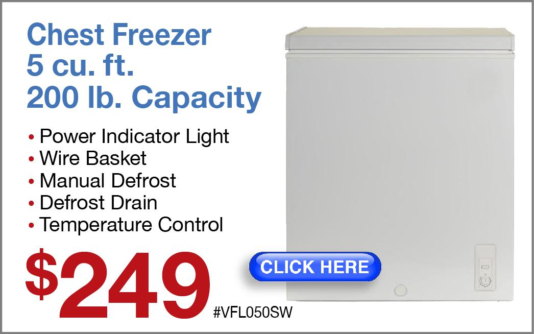 Manual Defrost Chest Freezer HCM7SMWW