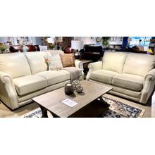 See Details - Coastal Cloud Leather Sofa & Loveseat