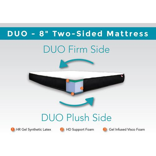 "Duo - 8"" Two-Sided Mattress"