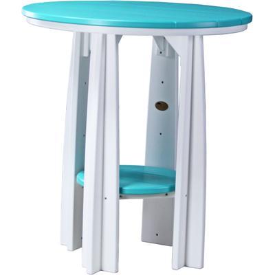 Balcony Table Aruba Blue and White
