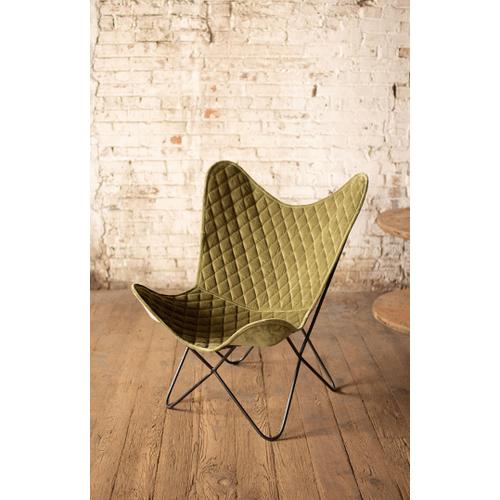 Velvet Butterfly Chair