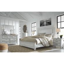 Kanwyn - Whitewash - 7 Pc. - Dresser, Mirror, Chest, Nightstand & King Panel Bed