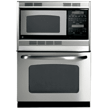 "GE 1.6CF Microwave and 3.8CF Oven 27"" Stainless Steel with Self Clean"