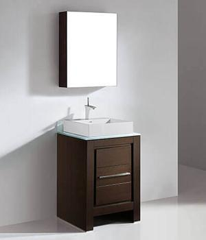 """VICENZA 23-5/8"""" VANITY ONLY - WALNUT Product Image"""
