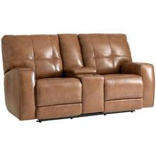 See Details - Conway Motion Loveseat w/ Power & Console in Almond