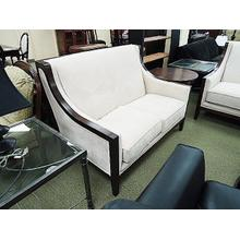 Loveseat in a show-wood frame