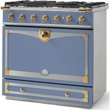 Provence Blue Albertine 90 with Polished Brass Accents