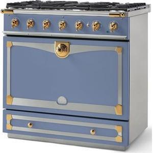 Lacornue Cornufe - Provence Blue Albertine 90 with Polished Brass Accents