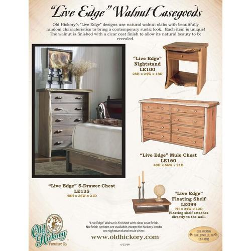 """Live Edge"" Walnut Casegoods"