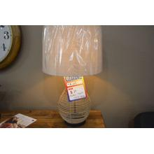 Product Image - Ashley Furniture wicker style table lamp.