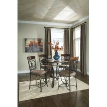 5-Piece Counter Height Dinette-Glamery Brown