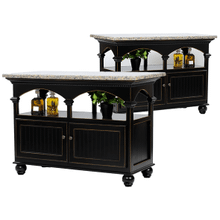 Poplar Kitchen Island with Granite Top