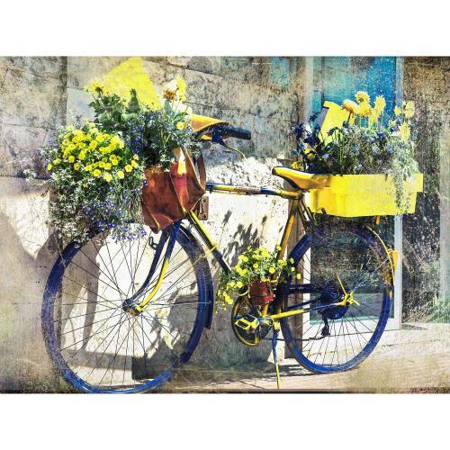 Outdoor Canvas Art - Blue & Yellow Bike 40 x 30